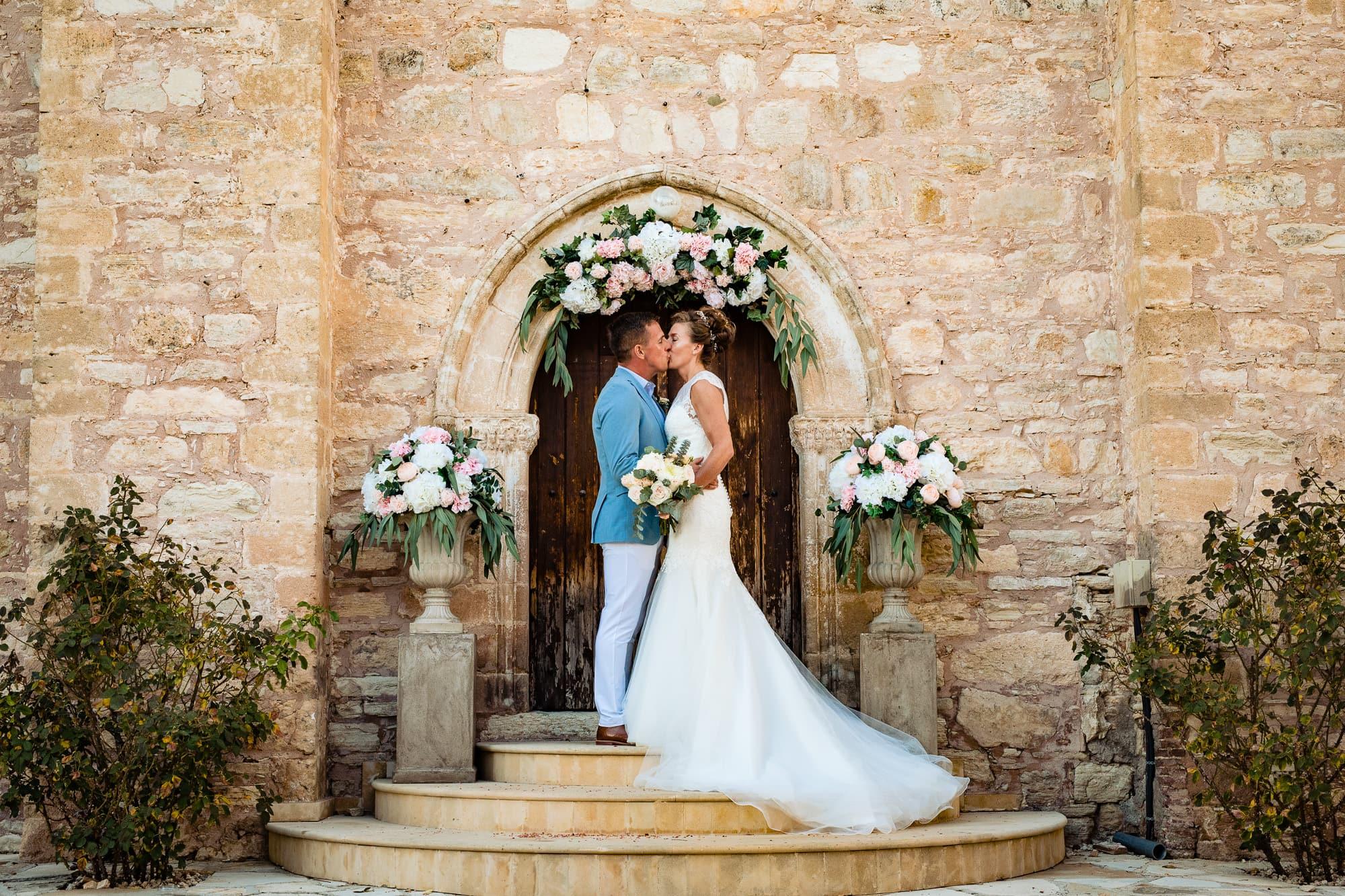 Bride and Groom Paphos Cyprus Wedding
