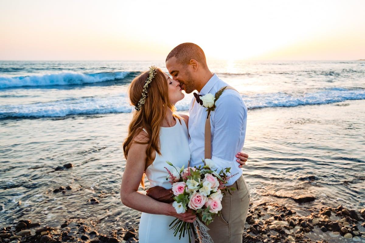 Beach Cyprus Bride and Groom Wedding
