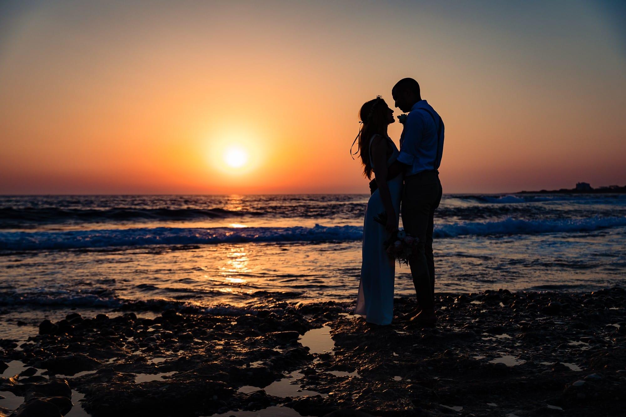 Bride and Groom Beach Paphos Cyprus Wedding