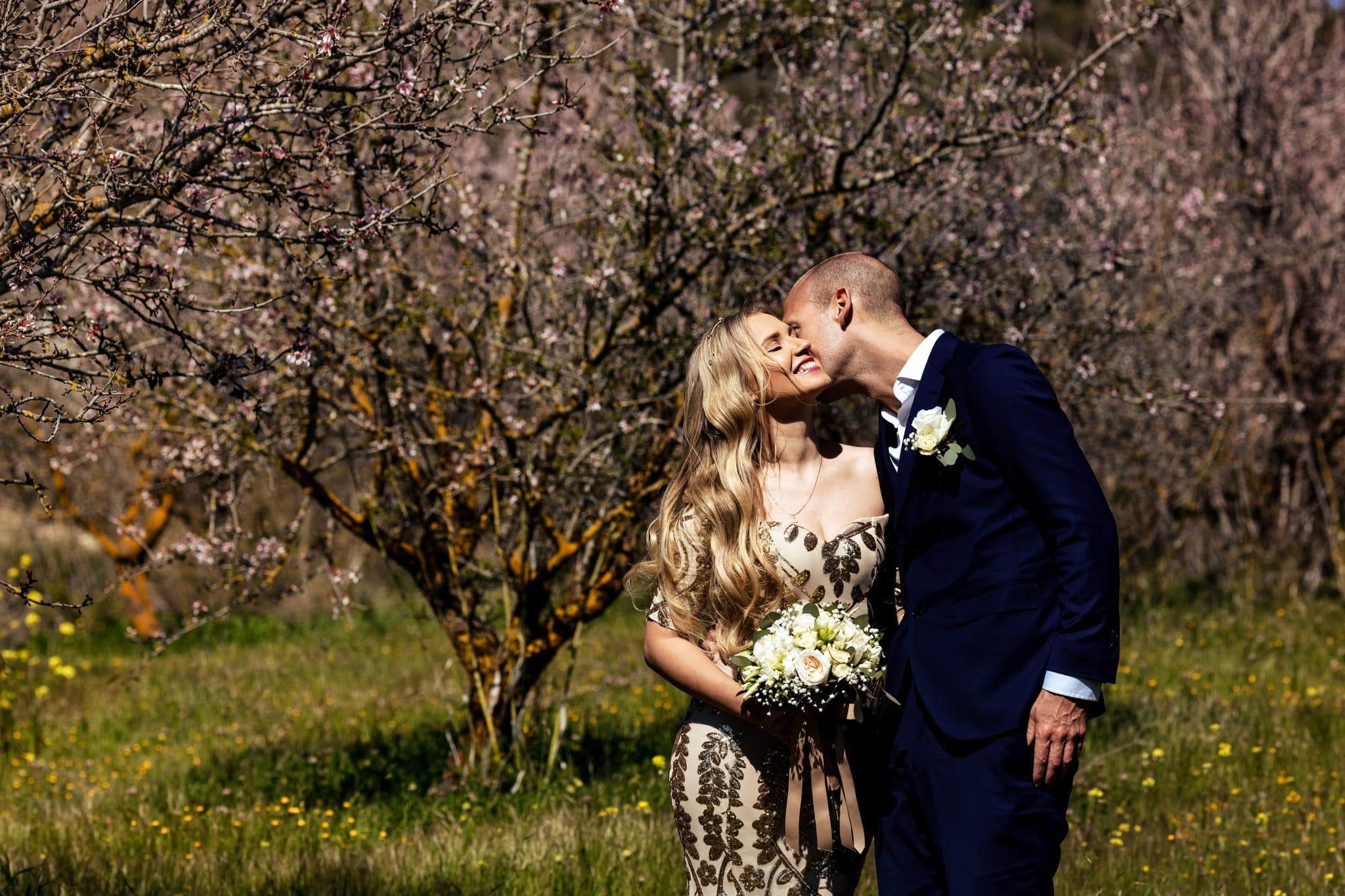 Bride and Groom Minthis Hills Paphos Cyprus Wedding